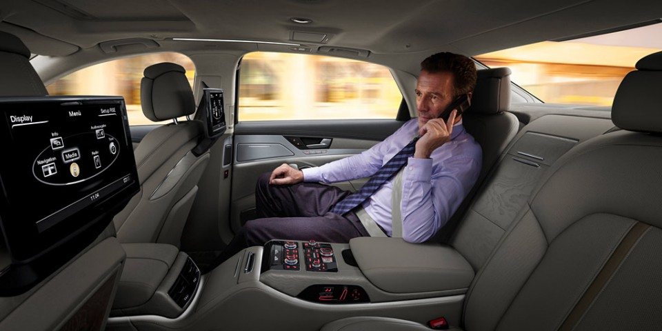 Limousine Client in back seat